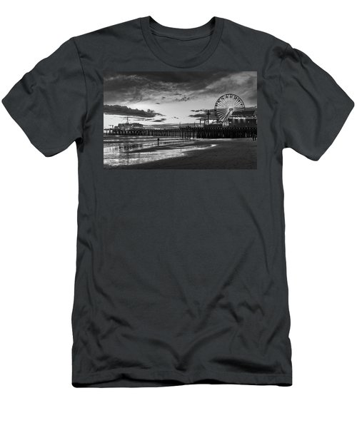 Pacific Park - Black And White Men's T-Shirt (Athletic Fit)