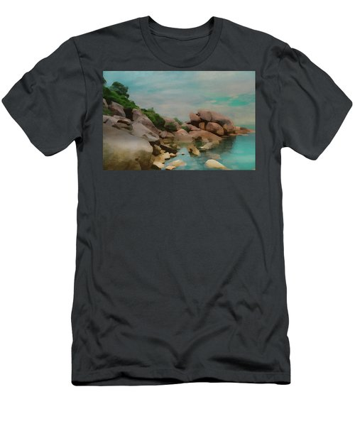 Painted Rocks At Full Tide Men's T-Shirt (Athletic Fit)