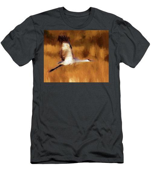 Painterly Crane Men's T-Shirt (Athletic Fit)