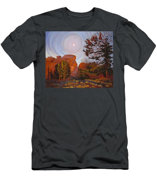 Pale Moon Over Vedauwoo Men's T-Shirt (Athletic Fit)