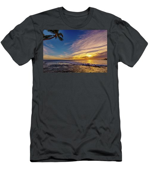 Palm Wave Sunset Men's T-Shirt (Athletic Fit)