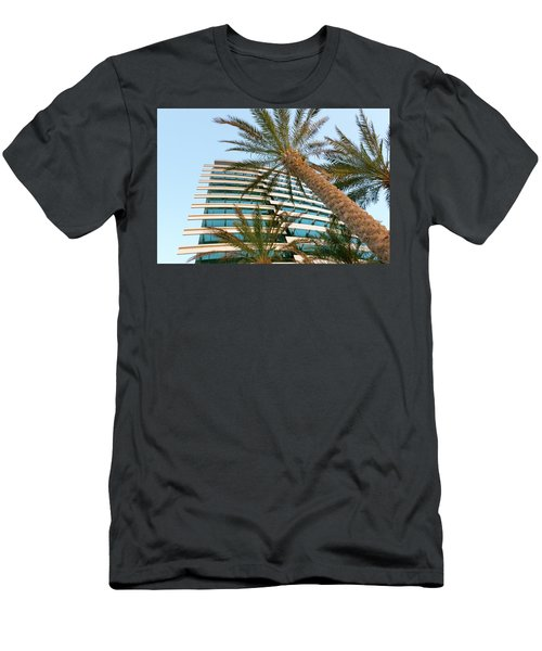 Men's T-Shirt (Athletic Fit) featuring the photograph Palms Of Dubai by SR Green