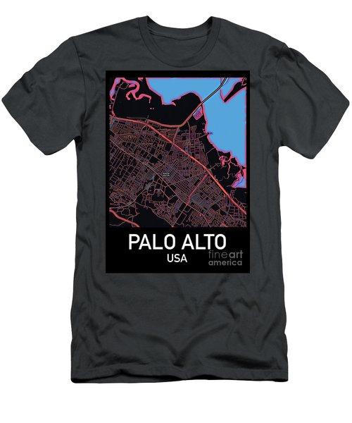 Palo Alto City Map Men's T-Shirt (Athletic Fit)