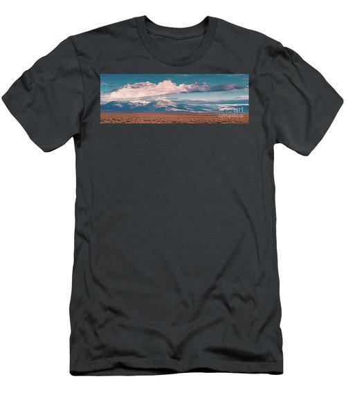 Panorama Of Sangre De Cristo Mountains Mount Wheeler Taos Mountain - New Mexico Land Of Enchantment Men's T-Shirt (Athletic Fit)