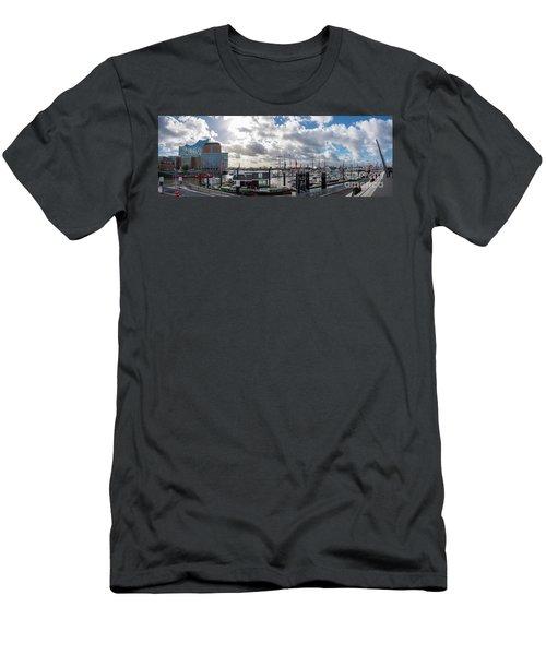 Panoramic View Of Hamburg Men's T-Shirt (Athletic Fit)