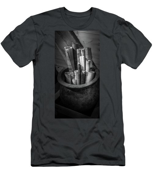 Paper Rolls In The Clay Pot Men's T-Shirt (Athletic Fit)