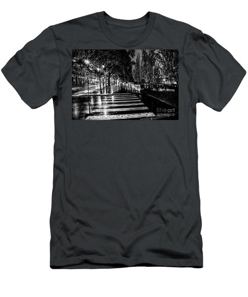 Paris At Night - Quai Voltaire Men's T-Shirt (Athletic Fit)