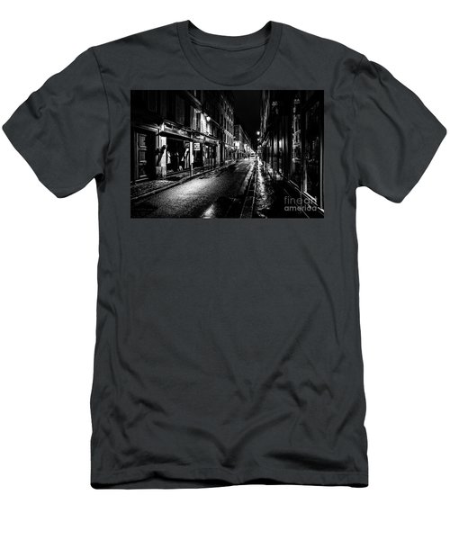 Men's T-Shirt (Athletic Fit) featuring the photograph Paris At Night - Rue De Vernueuil by Miles Whittingham