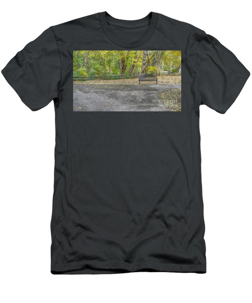 Park Bench @ Sharon Woods Men's T-Shirt (Athletic Fit)