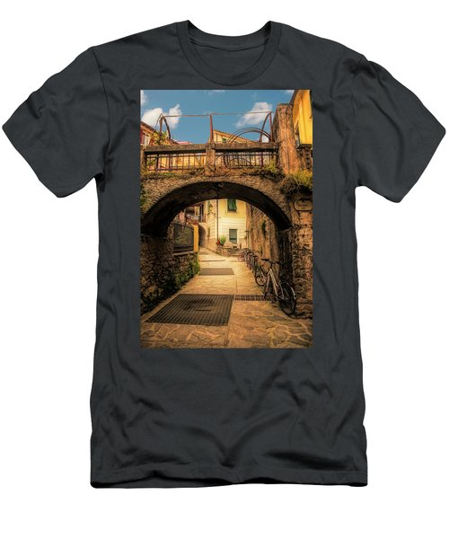 Passageway In Monterosso Men's T-Shirt (Athletic Fit)