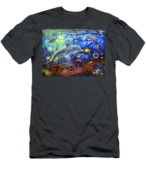 Past Memories New Beginnings Dolphin Reef Men's T-Shirt (Athletic Fit)