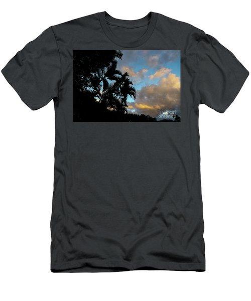 Peach Sunset  Men's T-Shirt (Athletic Fit)