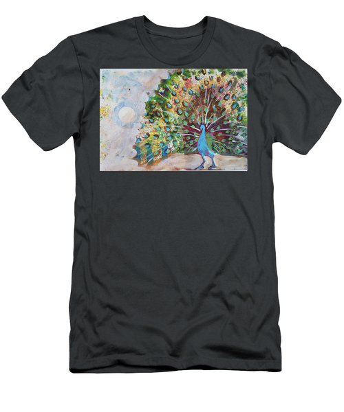 Peacock In Morning Mist Men's T-Shirt (Athletic Fit)