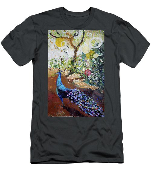Peacock On Path Men's T-Shirt (Athletic Fit)