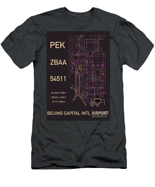 Pek Beijing Capital Airport Men's T-Shirt (Athletic Fit)