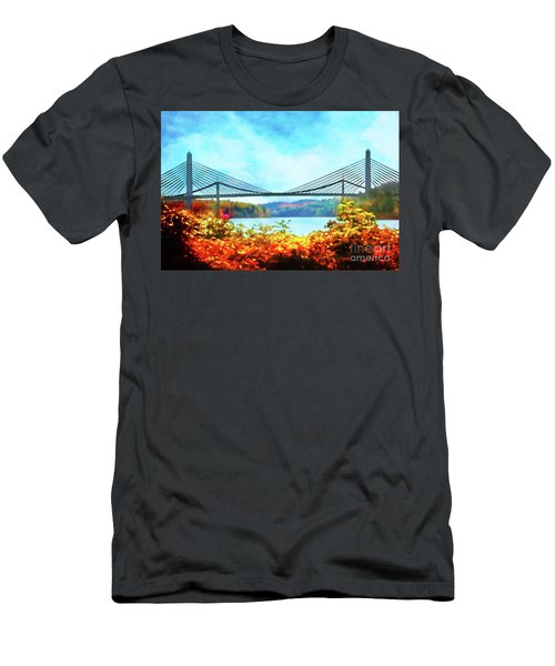 Penobscot Narrows Bridge In Autumn Men's T-Shirt (Athletic Fit)