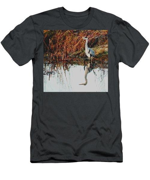 Pensive Heron Men's T-Shirt (Athletic Fit)