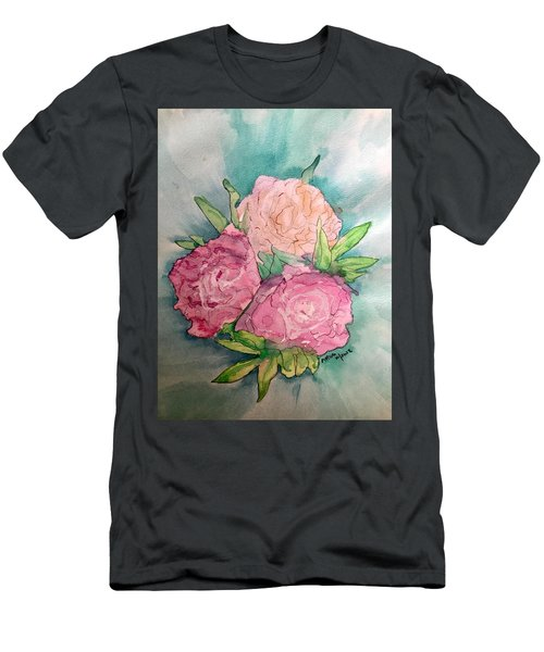 Peonie Roses Men's T-Shirt (Athletic Fit)