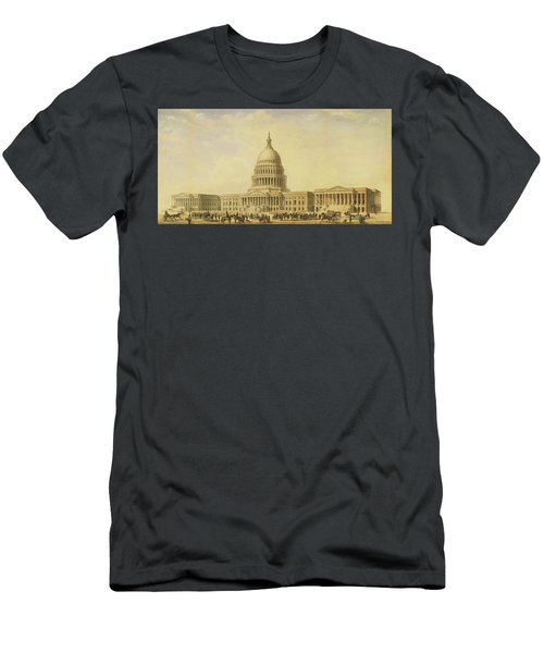 Perspective Rendering Of United States Capitol Men's T-Shirt (Athletic Fit)