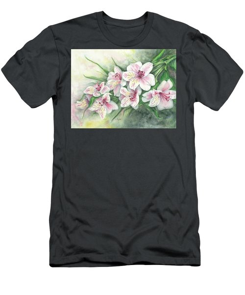 Peruvian Lilies Men's T-Shirt (Athletic Fit)
