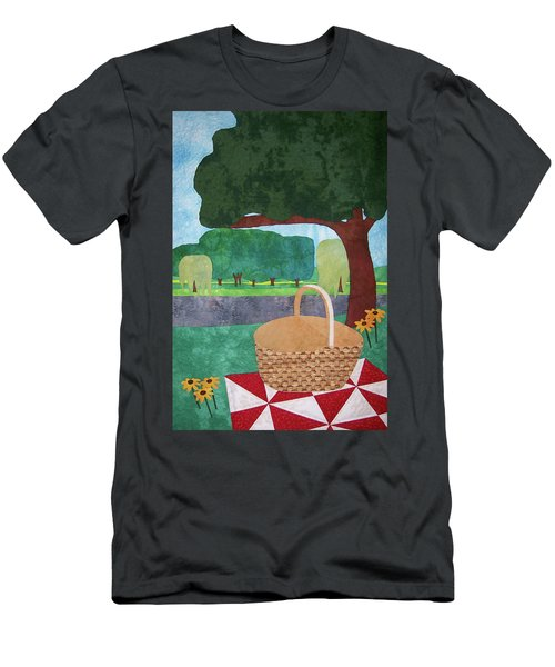 Picnic At Ellis Pond Men's T-Shirt (Athletic Fit)