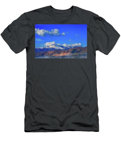 Pike's Peak Shines Above The Waldo Canyon Burn Scar 2 Men's T-Shirt (Athletic Fit)