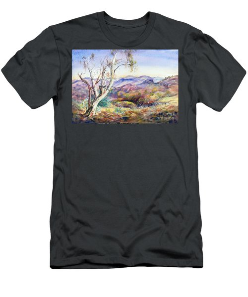 Men's T-Shirt (Athletic Fit) featuring the painting Pilbara, Hamersley Range, Western Australia. by Ryn Shell