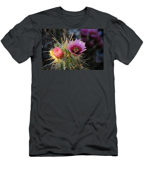 Pink Cactus Flower Men's T-Shirt (Athletic Fit)