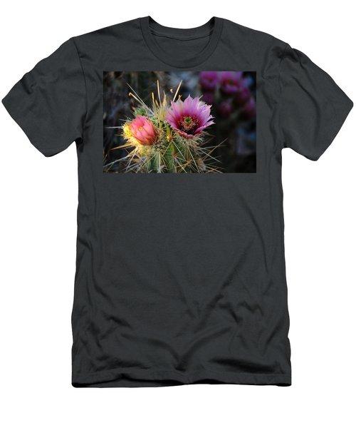 Pink Cactus Flower Men's T-Shirt (Athletic Fit)