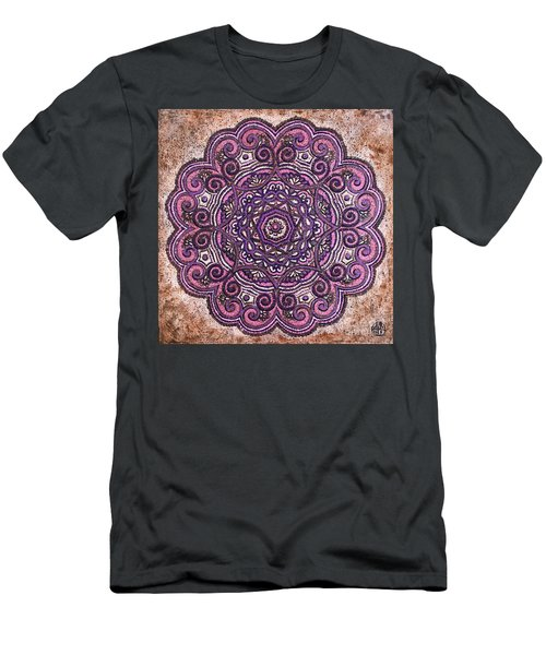 Pink Mandala Men's T-Shirt (Athletic Fit)
