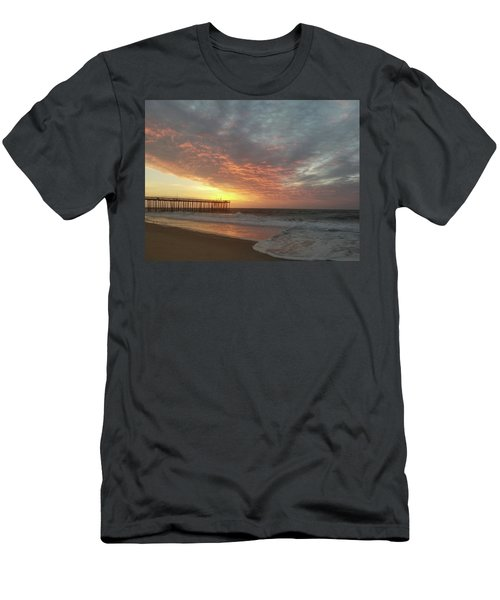 Pink Rippling Clouds At Sunrise Men's T-Shirt (Athletic Fit)