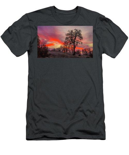 Pink Sunrise Men's T-Shirt (Athletic Fit)