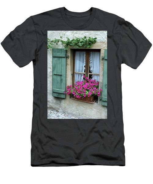 Pink Window Box Men's T-Shirt (Athletic Fit)