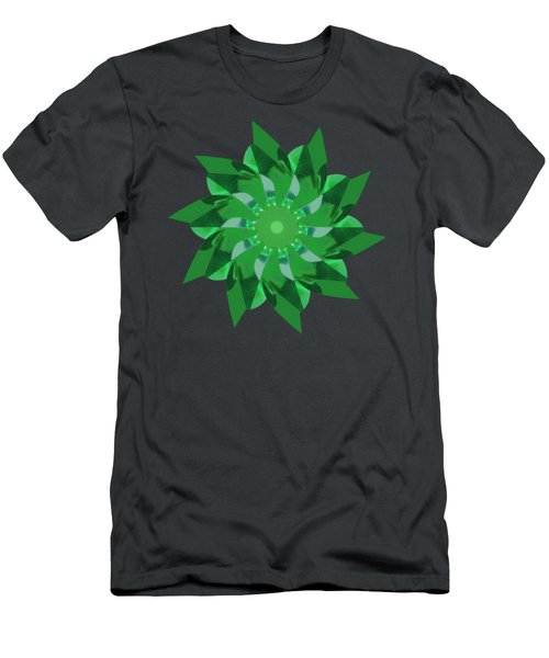 Pinwheel In Green - Transparent Men's T-Shirt (Athletic Fit)