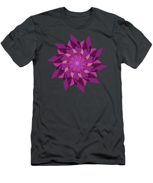 Pinwheel In Pink - Transparent Men's T-Shirt (Athletic Fit)