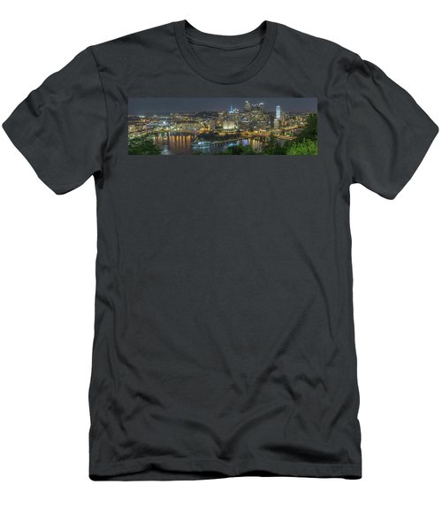 Men's T-Shirt (Athletic Fit) featuring the photograph Pittsburgh Lights by David R Robinson