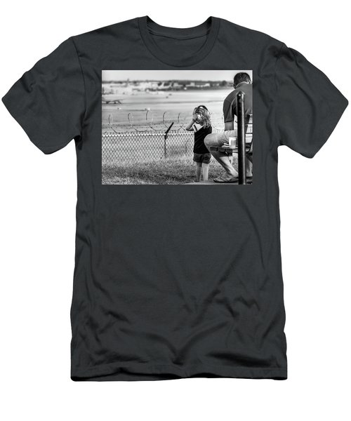 Plane Watching Men's T-Shirt (Athletic Fit)