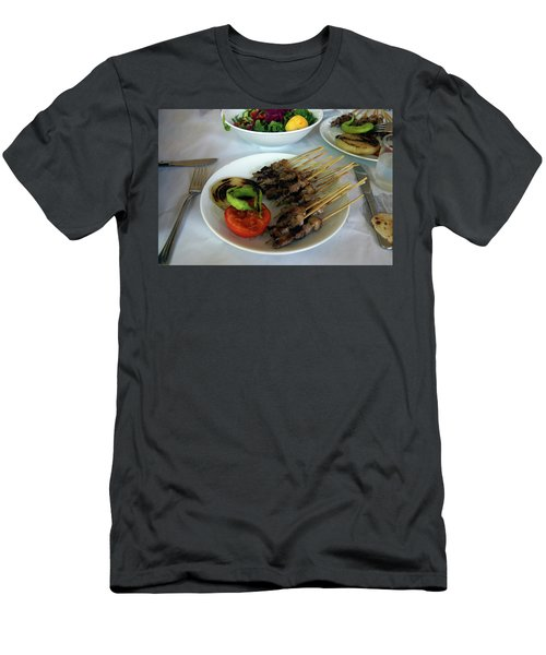 Plate Of Kebabs And Salad For Lunch Men's T-Shirt (Athletic Fit)