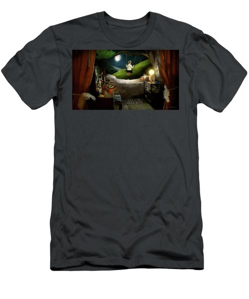 Men's T-Shirt (Athletic Fit) featuring the photograph Playing Inside by Mike Savad - Abbie Shores