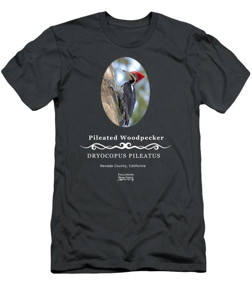 Pleated Woodpecker Men's T-Shirt (Athletic Fit)