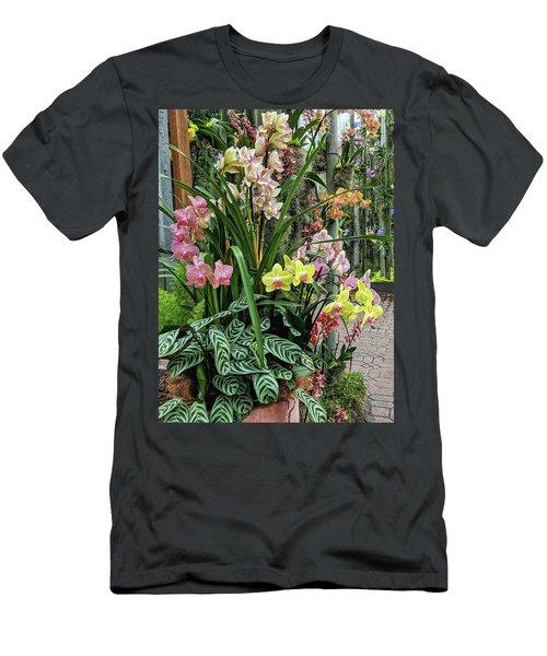 Plentiful Orchids Men's T-Shirt (Athletic Fit)