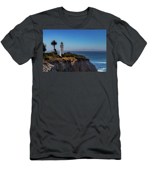 Point Vicente Lighthouse Men's T-Shirt (Athletic Fit)