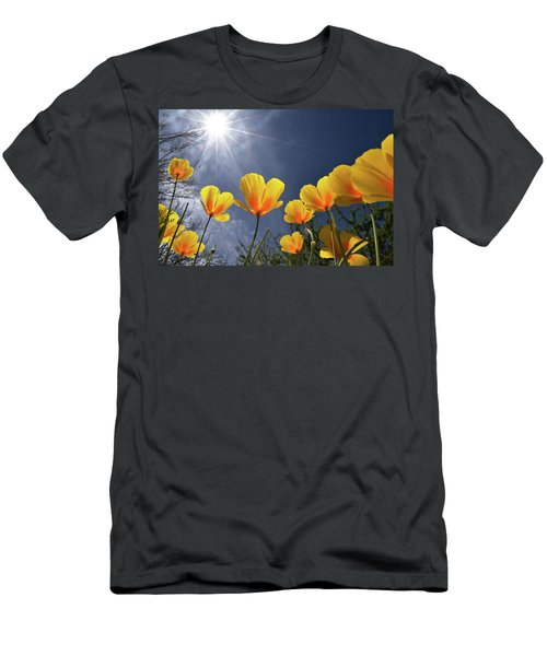 Poppies Enjoy The Sun Men's T-Shirt (Athletic Fit)