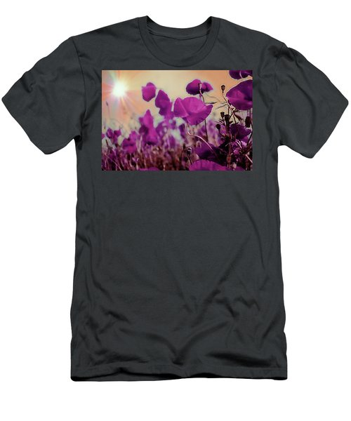 Poppies In Sunlight Men's T-Shirt (Athletic Fit)