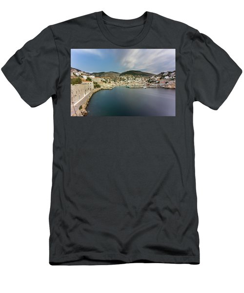 Port At Hydra Island Men's T-Shirt (Athletic Fit)