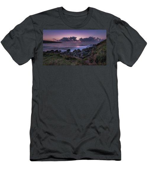 Porthmeor Sunset - Cornwall Men's T-Shirt (Athletic Fit)