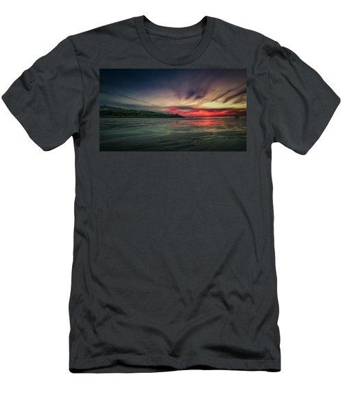 Porthmeor Sunset Version 2 Men's T-Shirt (Athletic Fit)