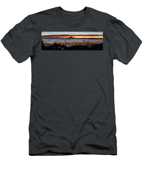 Portland Foggy Sunrise Men's T-Shirt (Athletic Fit)