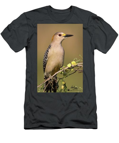 Portrait Of A Golden-fronted Woodpecker Men's T-Shirt (Athletic Fit)