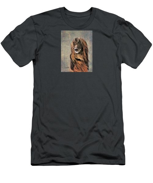 Portrait Of An Afghan Hound Men's T-Shirt (Athletic Fit)